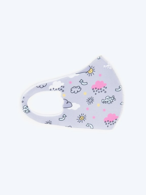 Ice silk reusable face mask for kids (2Y-7Y)