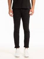Destroyed straight slim fit jeans in black wash