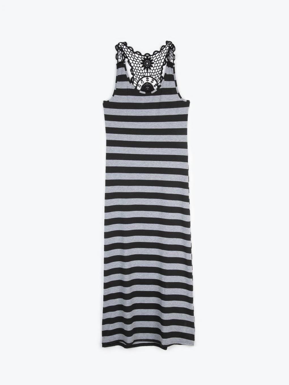 Maxi beach dress with crochet detail