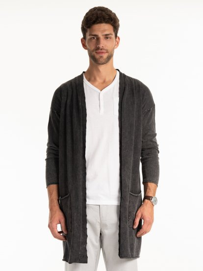 PROLONGED STRUCTURED CARDIGAN