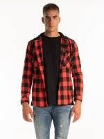 PLAID SHIRT WITH HOOD