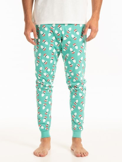 Christmas print pyjama bottoms