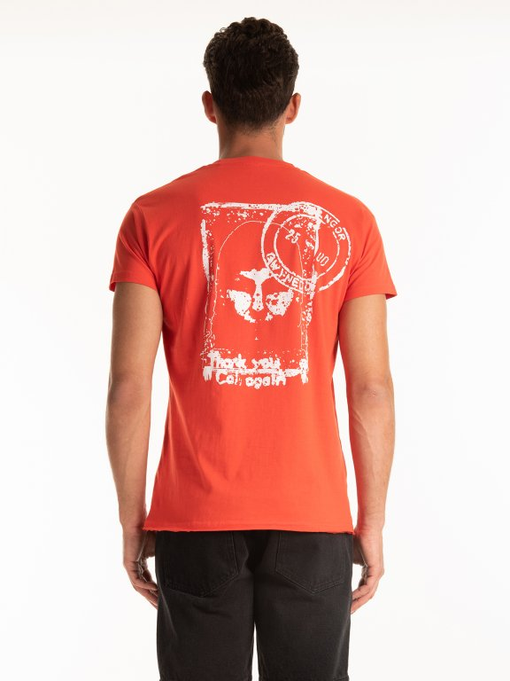T-SHIRT WITH PRINT ON BACK