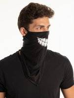 Face snood with print