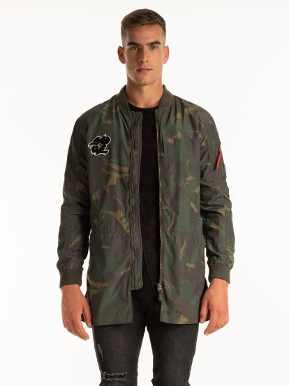 PROLONGED CAMO PRINT BOMBER JACKET