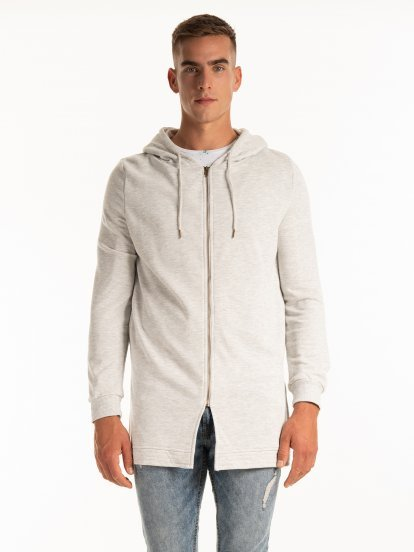 PROLONGED ZIP-UP HOODIE