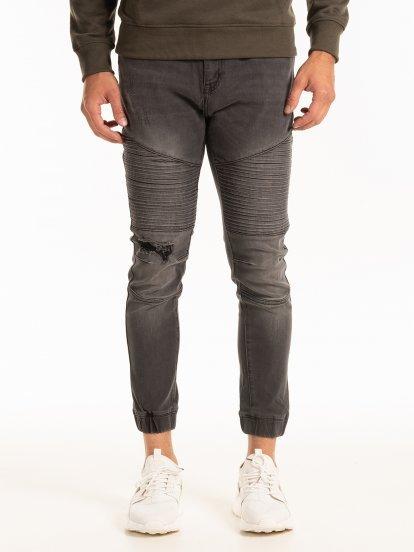Motorkárske džínsy jogger fit