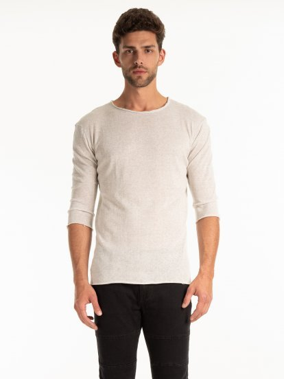 LIGHT JUMPER IN LINEN BLEND