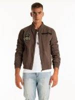 COTTON BOMBER JACKET WITH PATCHES
