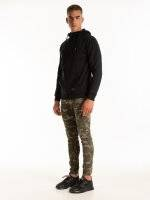Destroyed camo print joggers