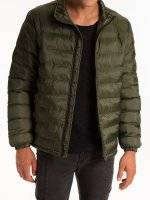 Basic quilted light padded jacket