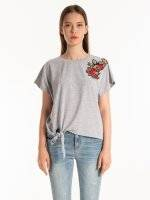 T-shirt with patch