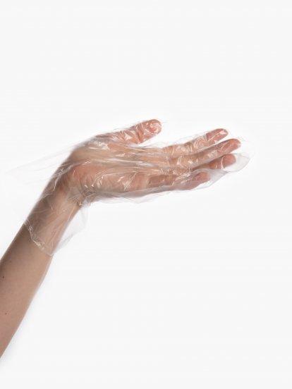 Jednorázové plastové rukavice (100 ks)