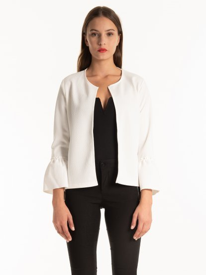 STRUCTURED BELL SLEEVE BLAZER