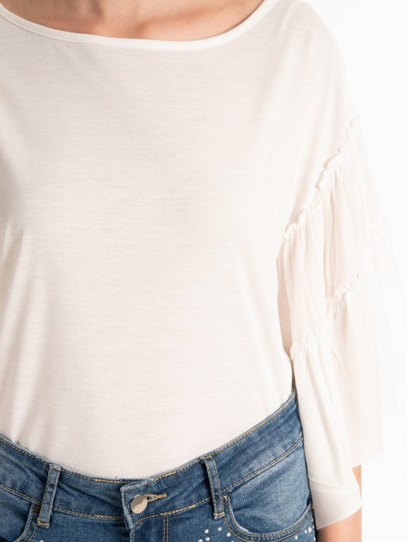 Ruffle sleeve top
