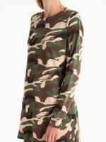 Camo print longline sweatshirt