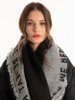 Oversized scarf with message