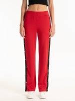 Široké kalhoty s bočním proužkem