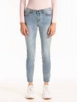 Džínsy skinny s kovovými krúžkami