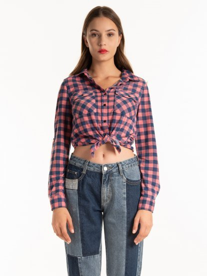 PLAID SHIRT WITH CHEST POCKETS