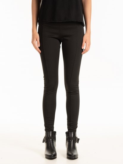 PLAIN SLIM KNITTED TROUSERS