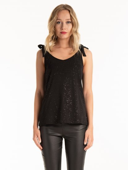 TANK TOP WITH METALLIC FIBRE
