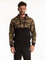 Camo print hoodie