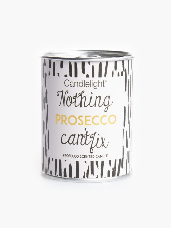 Prosecco scented candle in tin