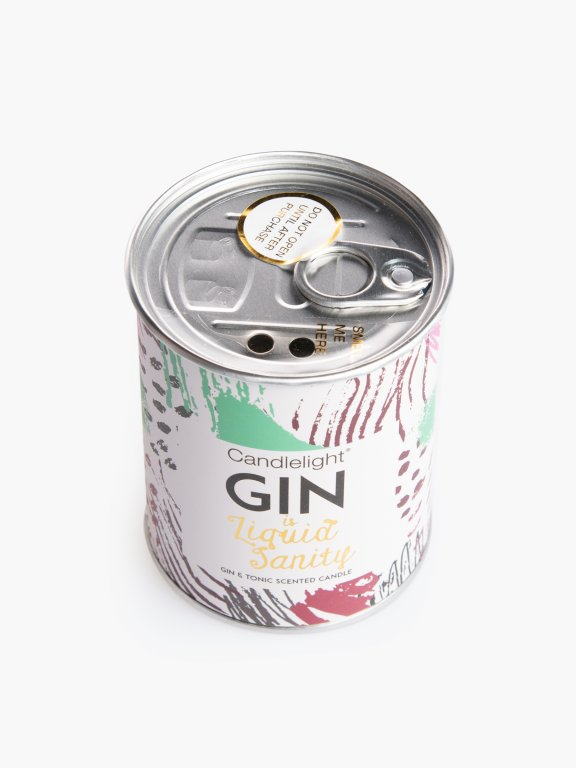 Gin & tonic scented candle in tin