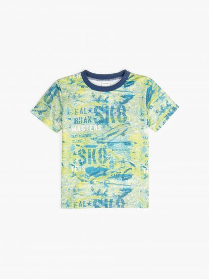 Mesh t-shirt with print