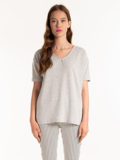 Marled v-neck t-shirt