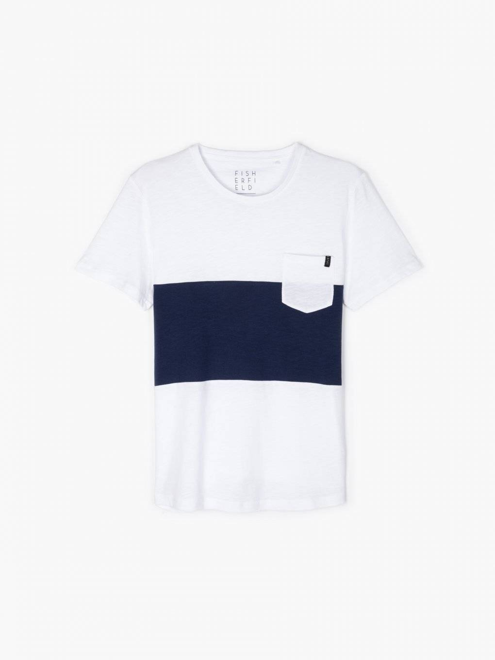 Longline colour block t-shirt with chest pocket