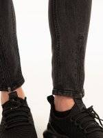 Straight slim fit jeans with zippers