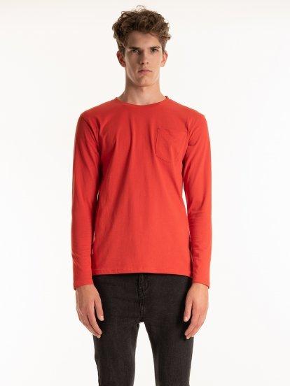 Základné džersejové tričko s náprsným vreckom