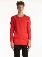 Longline sweatshirt with shoulder zippers