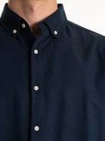 Lyocell and cotton blend regular fit shirt