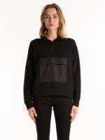 Zip up sweatshirt with pocket