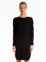 LONGLINE JUMPER WITH CONTRAST SLEEVE TAPE