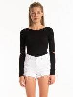 CUT OUT ELBOW JUMPER