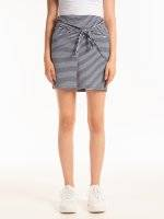 KNOT FRONT STRIPED SKIRT