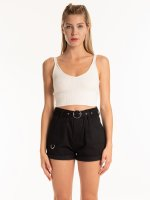 RIB-KNIT CROP TOP