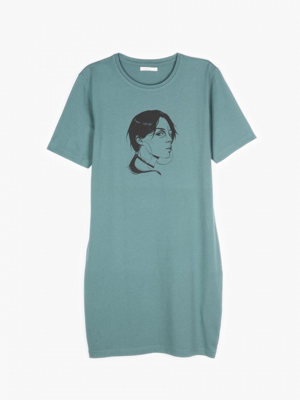 Tričkové šaty s potlačou
