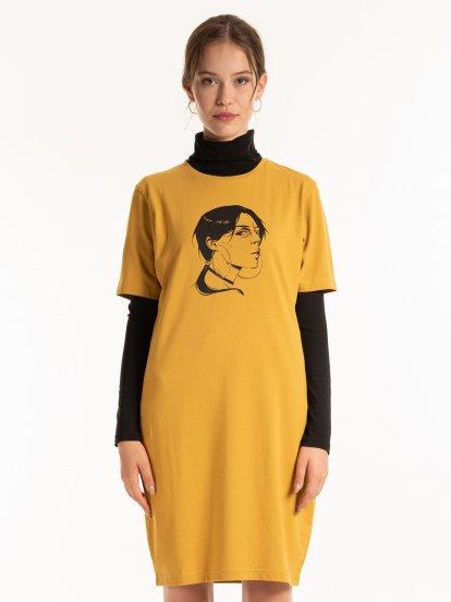 Tričkové šaty s potiskem