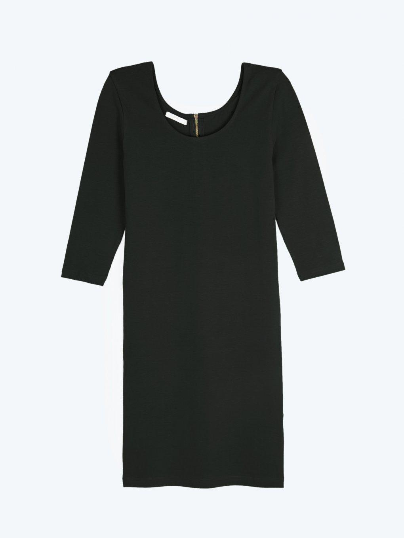 Jednofarebné obtiahnuté šaty