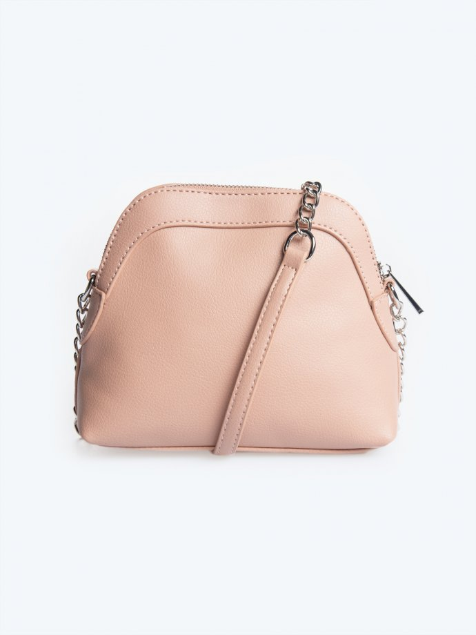 Crossbody bag with chain strap