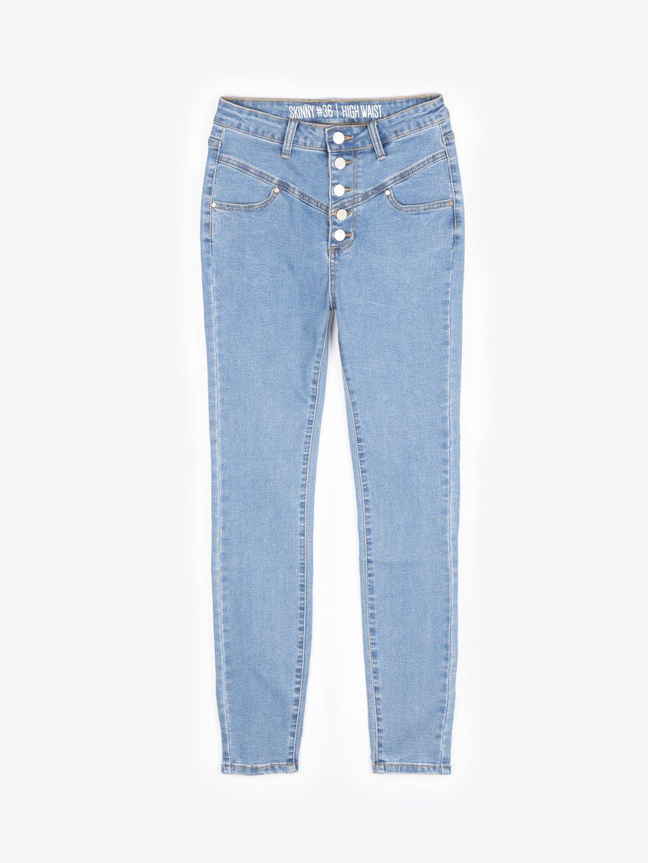 Džíny skinny s vysokým pasem