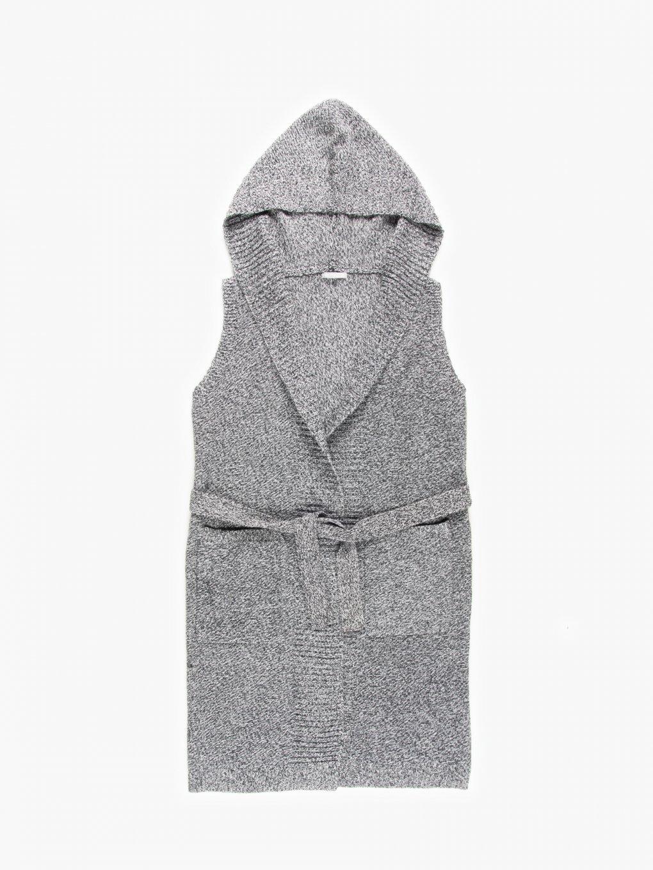 Pletená vesta s opaskom