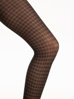 Pepita pattern tights