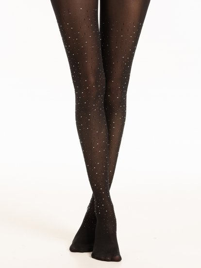 Rhinestone tights