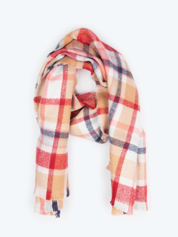 Plaid maxi scarf